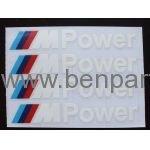 BMW YAZI KAPI KOLU M3 POWER BEYAZ 10cm 4 ADET NATUREL BMW277398