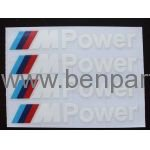 BMW YAZI KAPI KOLU M3 POWER BEYAZ 10cm 4 ADET NATUREL BMW277398