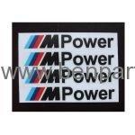 BMW YAZI KAPI KOLU M3 POWER SİYAH 10cm 4 ADET NATUREL BMW277400