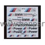 BMW YAZI BMW PERFORMANCE SİYAH NATUREL BMW277519